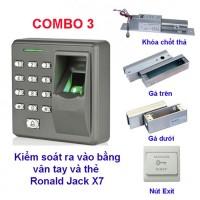 Hệ Thống Khóa Cửa Vân Tay Thẻ Combo3-X7