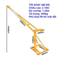 Cẩu Xoay 360 Độ Tải Trọng 400kg